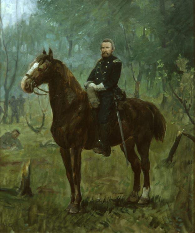 لوحة تجسد الكولونيل هيغ ممتطيا حصانه