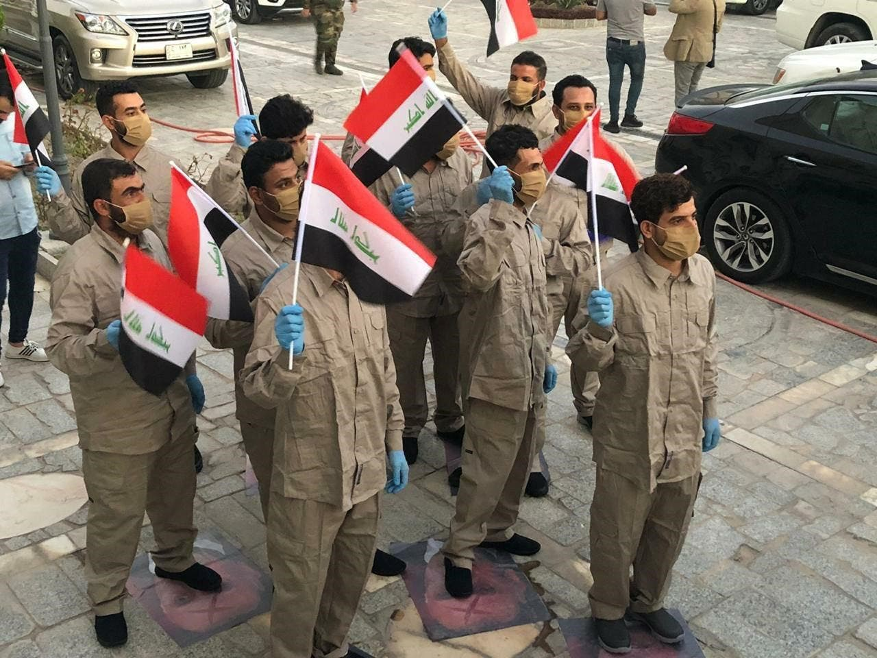 عناصر كتائب حزب اللهالذين أطلق سراحهم في يونيو الماضي