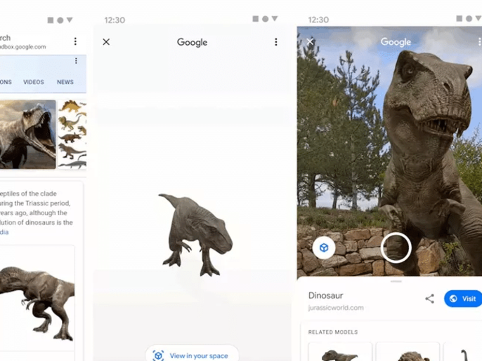 ديناصورات إلى الحقيقة.. ميزة جديدة من غوغل