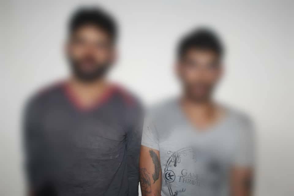 صورة مرتكبي الجريمة نشرتها وزارة داخلية النظام على فيسبوك