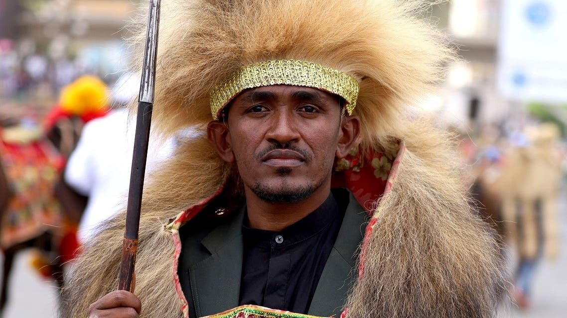 Ethiopian musician Haacaaluu Hundeessaa poses while dressed in a traditional costume. (File photo: Reuters)