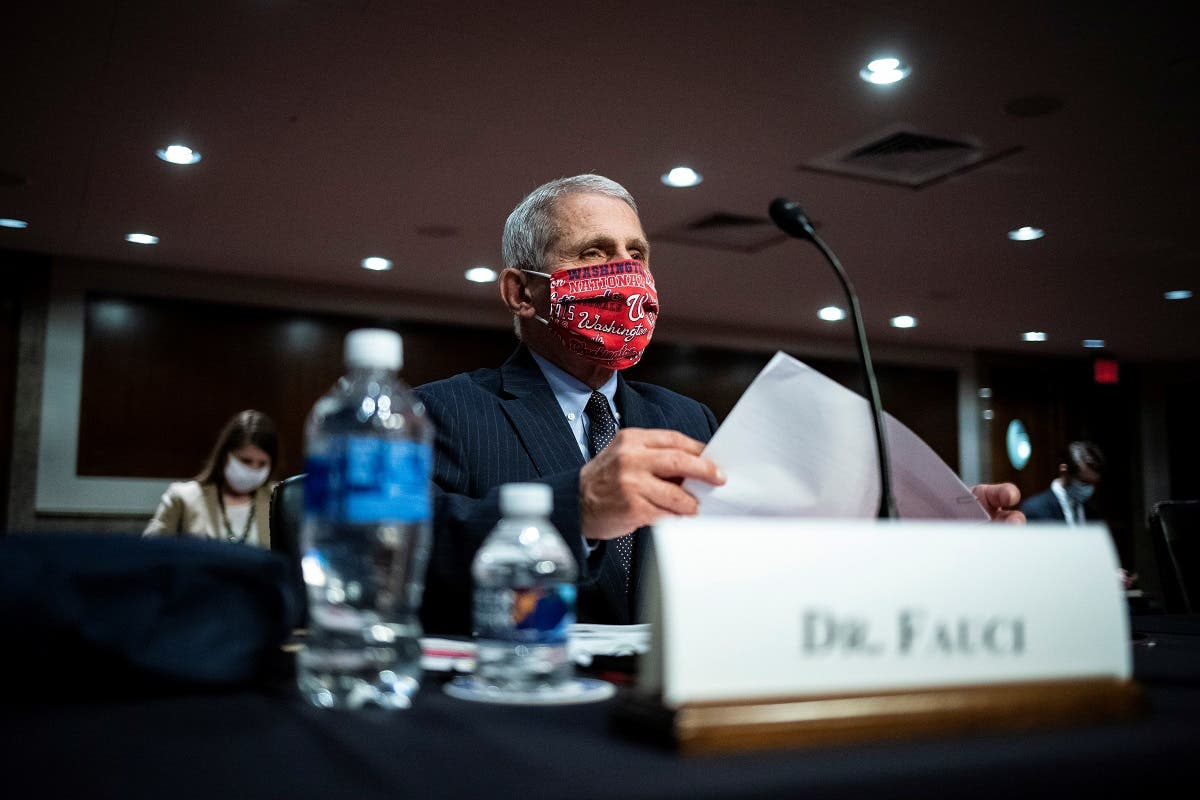 Dr. Anthony Fauci attends a Senate committee hearing on efforts to get back to work and school during the coronavirus disease, June 30, 2020. (Reuters)