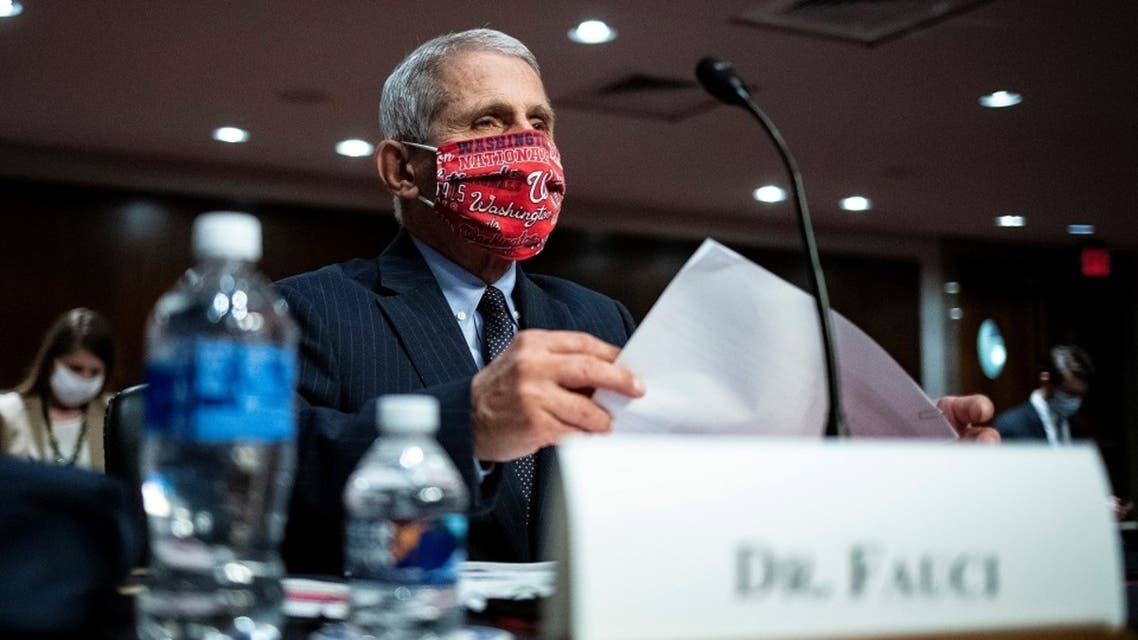 Dr. Anthony Fauci attends a Senate Health, Education, Labor and Pensions Committee hearing on efforts to get back to work and school during the coronavirus disease, June 30, 2020. (Reuters)