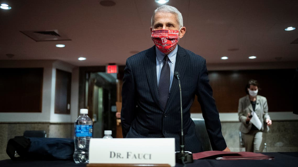 Anthony Fauci, director of the National Institute of Allergy and Infectious Diseases, attends a Senate Health, Education, Labor and Pensions Committee hearing on efforts to get back to work and school during the coronavirus outbreak, in Washington, DC, US, June 30, 2020. (Reuters)