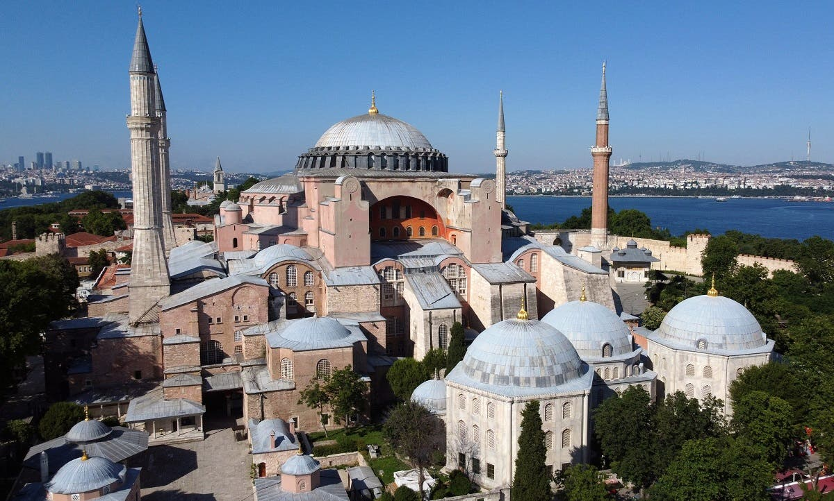 Hagia Sophia, a UNESCO World Heritage Site, is seen in Istanbul, Turkey, June 28, 2020. (Reuters)