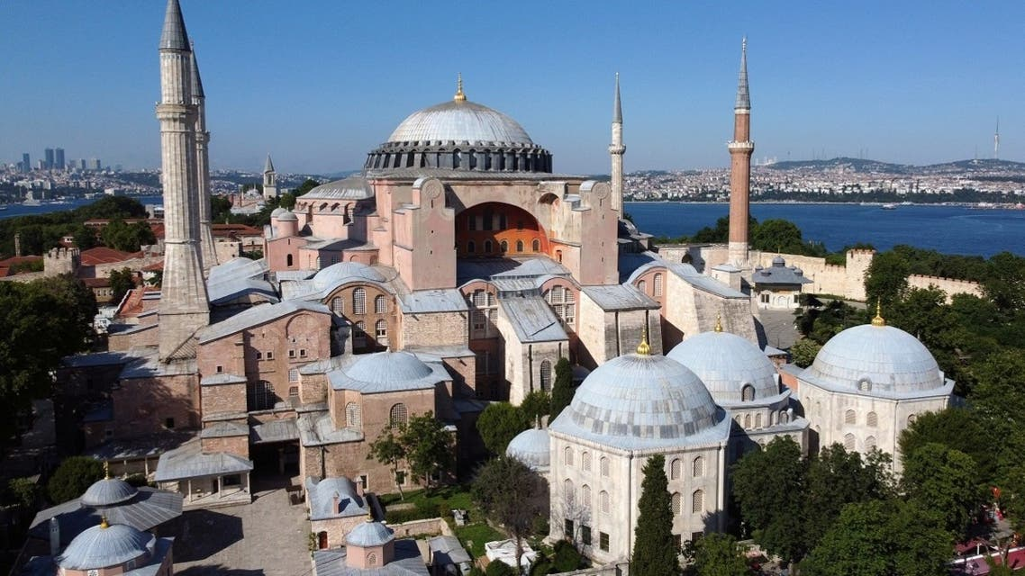 Hagia Sophia, a UNESCO World Heritage Site, is seen in Istanbul, Turkey, June 28, 2020. (Reuters)