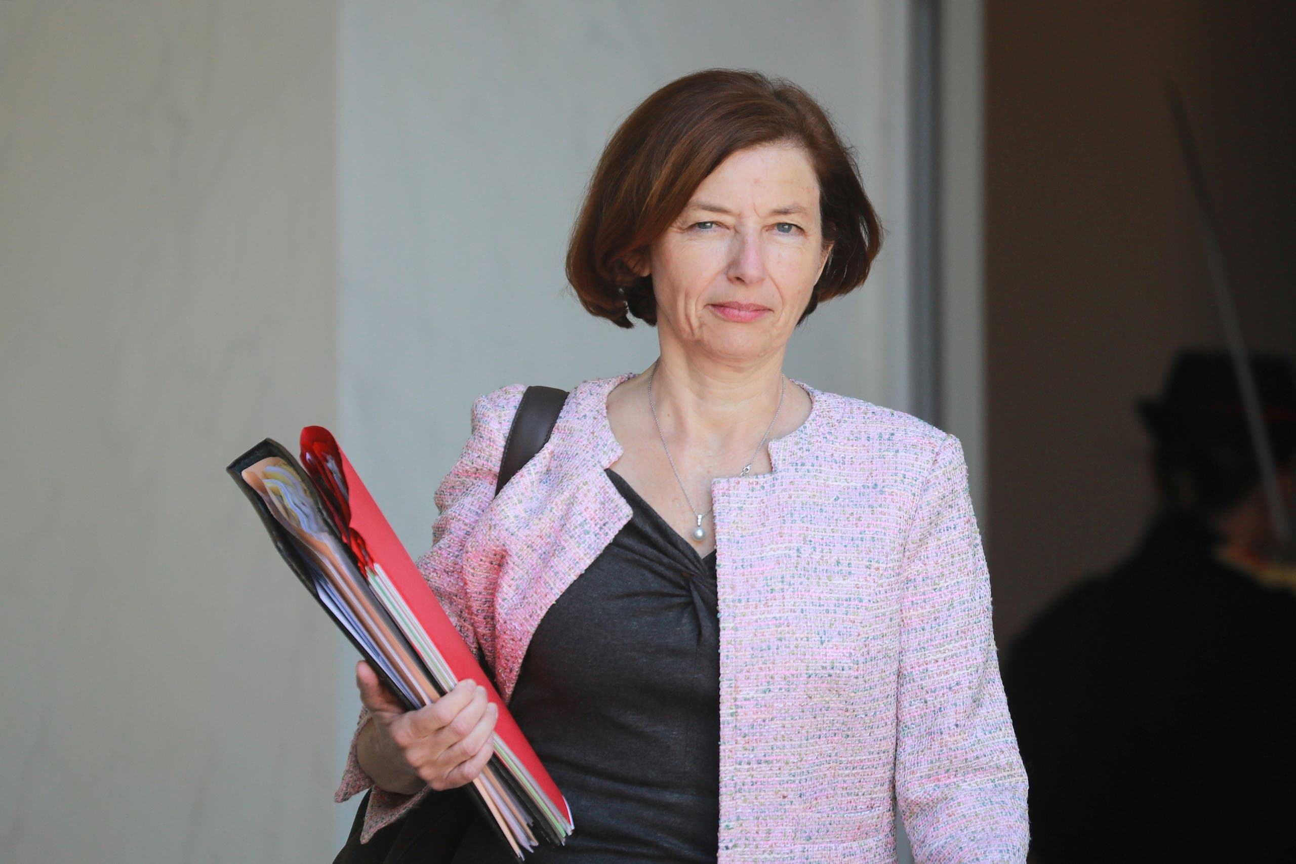 French Defence Minister Florence Parly leaves the Elysee Presidential Palace after a weekly cabinet meeting, in Paris, France May 27, 2020 as France eases lockdown measures taken to curb the spread of the coronavirus disease (COVID-19). (Reuters)