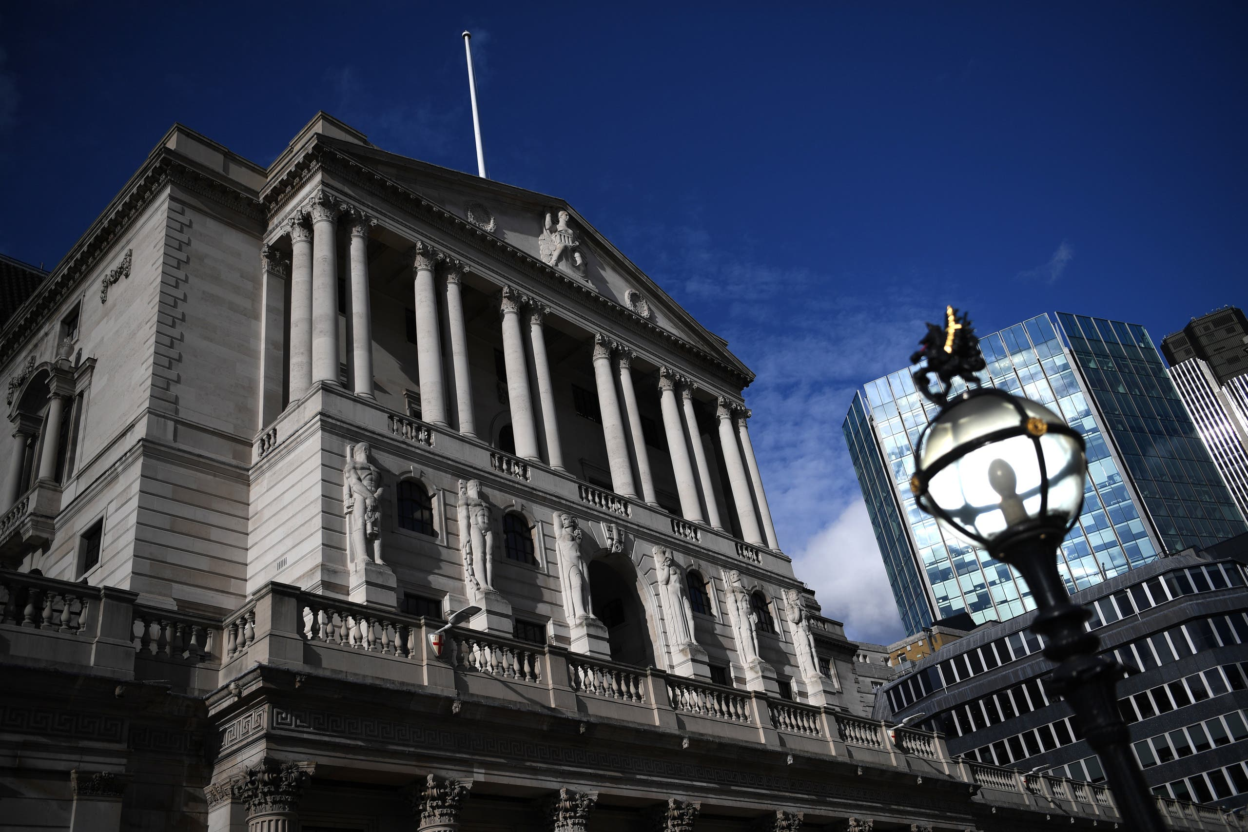 The Bank of England is pictured in London on March 11, 2020. (AFP)