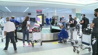مشاهد لمناوشات بين صحافيين والأمن بمطار لبناني