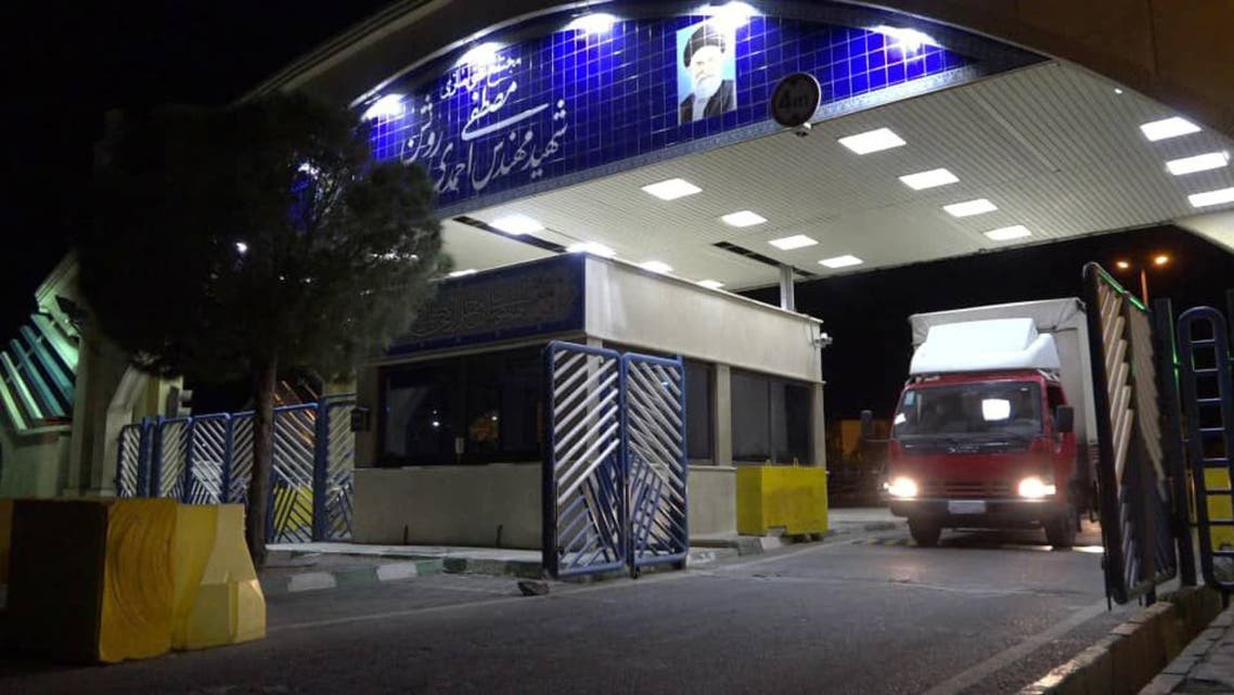 A handout picture released by Iran's Atomic Energy Organization on November 6, 2019, reportedly shows a truck carrying UF6 fuel leaving the Natanz nuclear power plant in the central Iranian province of Isfahan to the underground Fordo (Fordow) facility. Iran's atomic energy agency said its Fordo (Fordow) plant would begin enriching uranium from midnight, in another step towards reducing the country's obligations under the 2015 nuclear deal, sparking concern by some of the remaining parties to the troubled agreement.
