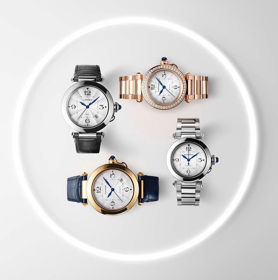 ساعات باشا دو كارتييه بتصاميمها الجديدة