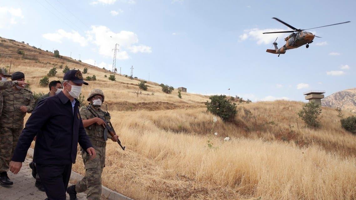 AP_Turkish Defense Minister Hulusi Akar
