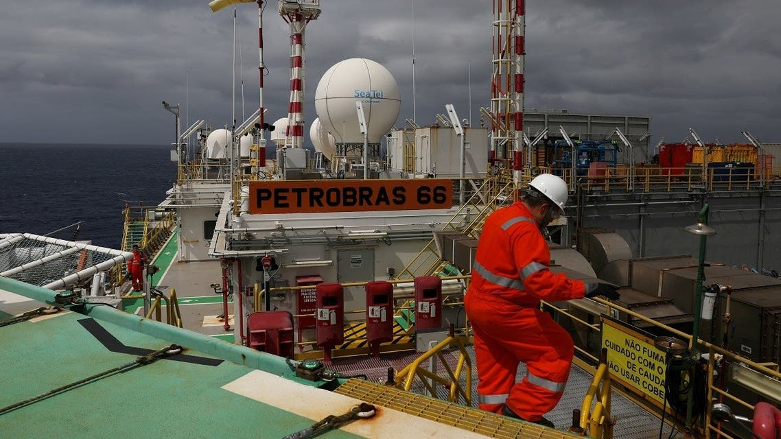 A worker walks inside the Brazil's Petrobras P-66 oil rig in the offshore Santos Basin in Rio de Janeiro, Brazil. (File photo: Reuters)