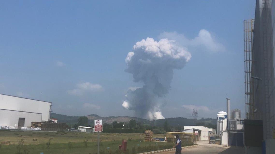 انفجار مصنع ألعاب نارية تركيا