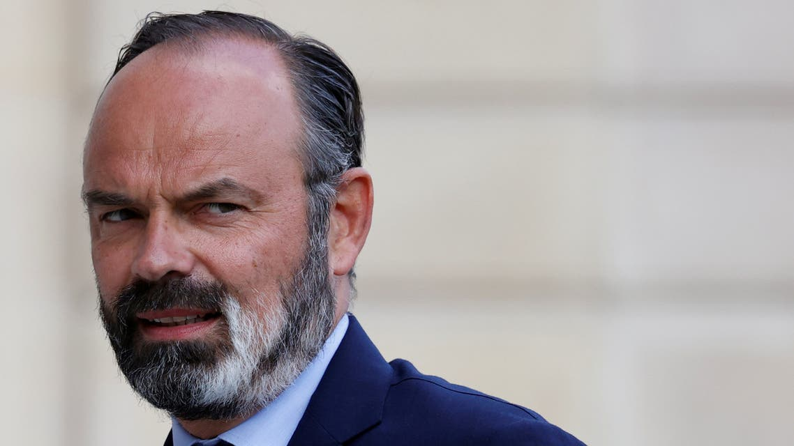 Former French Prime Minister Edouard Philippe arrives for a meeting with members of the Citizens' Convention on Climate (CCC) at the Elysee Palace in Paris, France June 29, 2020. (Reuters)