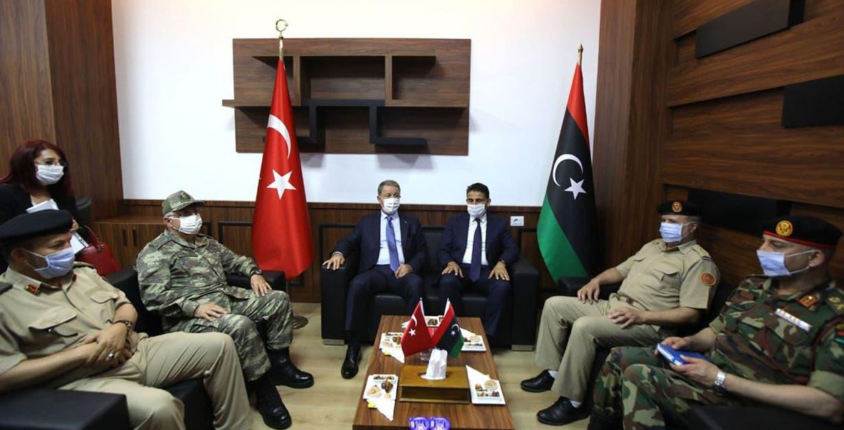 وزير الدفاع التركي في طرابلس