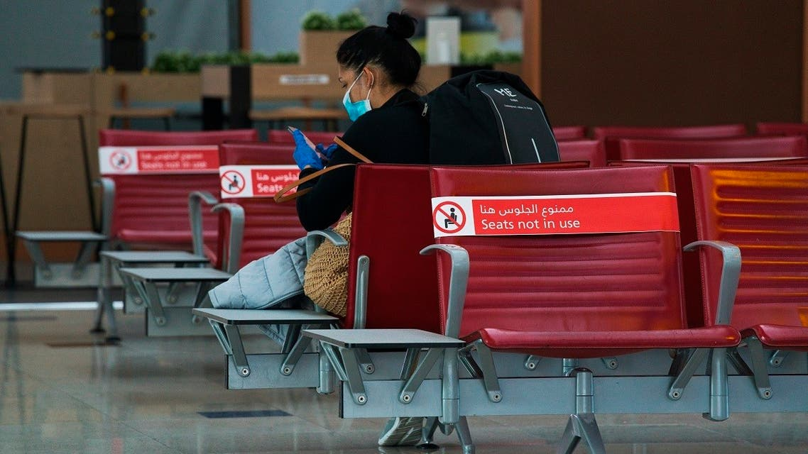 Dubai International Airport's Terminal 3, typically buzzing with passengers, stands largely empty in Dubai. (AP)