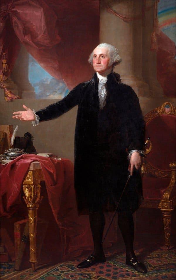 لوحة تجسد الرئيس الأميركي جورج واشنطن