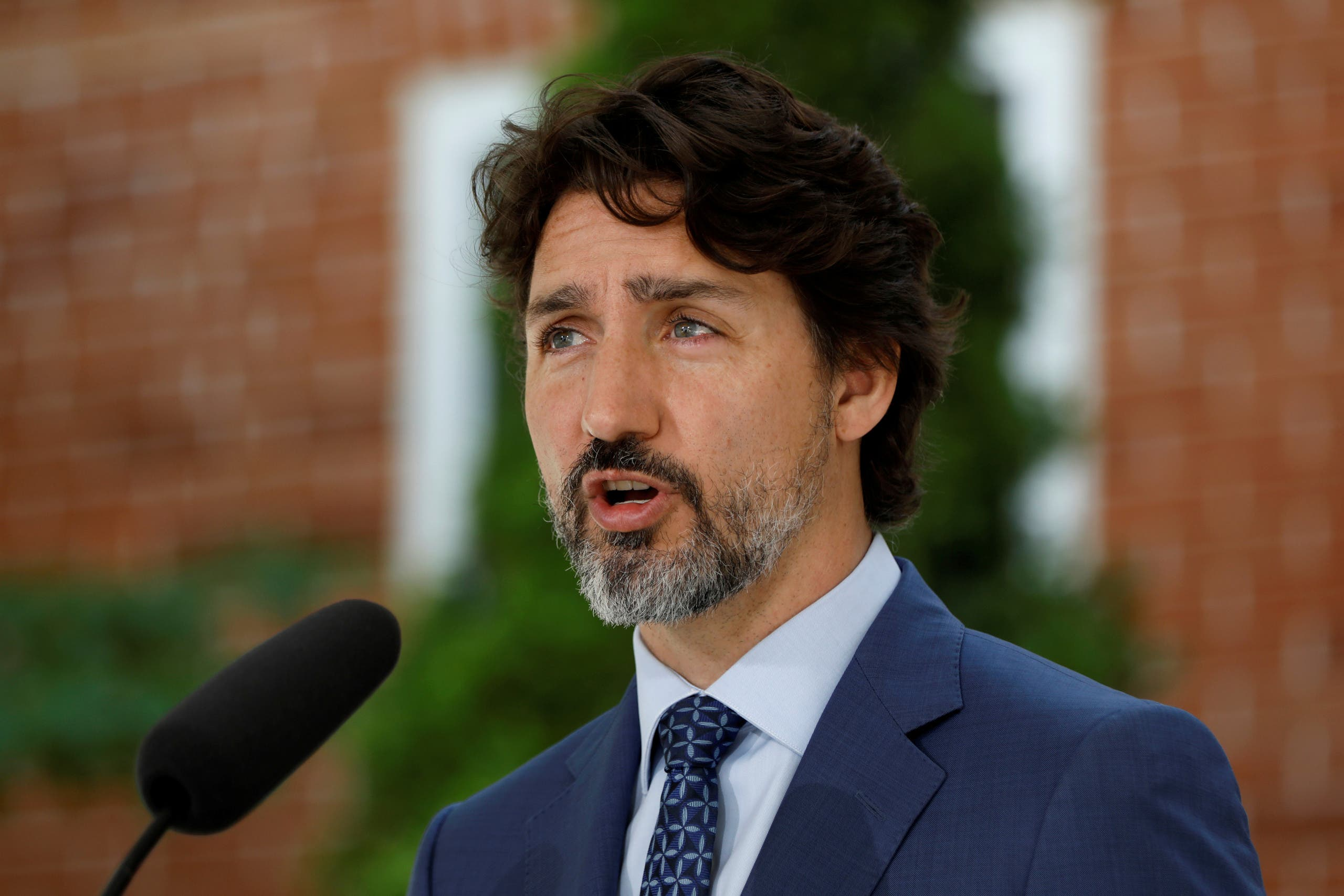 Canada's Prime Minister Justin Trudeau arrives for a news conference at Rideau Cottage, as efforts continue to help slow the spread of coronavirus disease (COVID-19), in Ottawa, Ontario, Canada June 22, 2020. (File photo: Reuters)