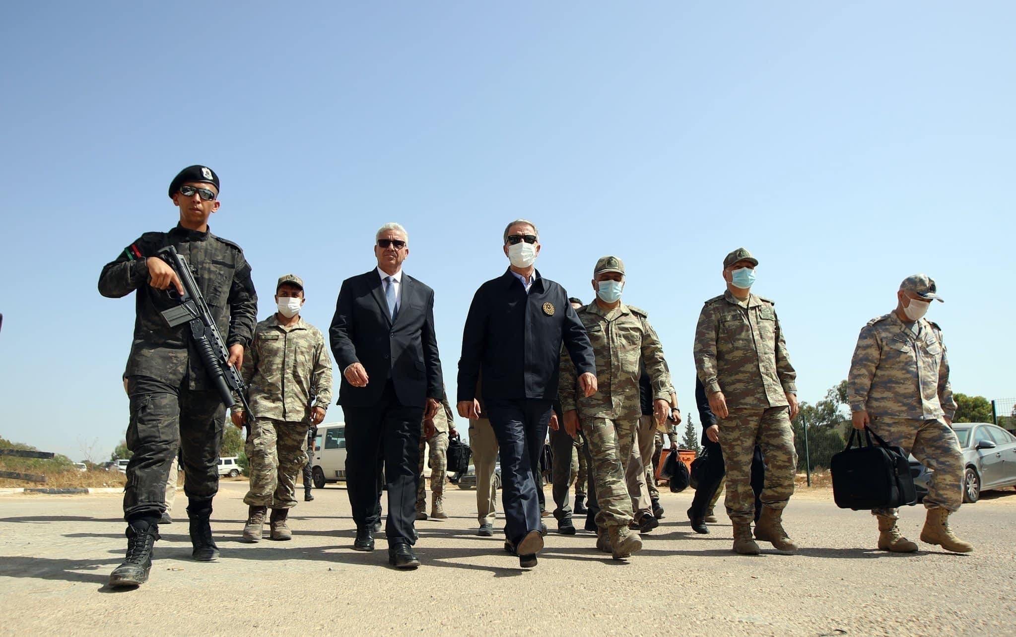 وزير الدفاع التركي في مصراتة (أرشيفية)