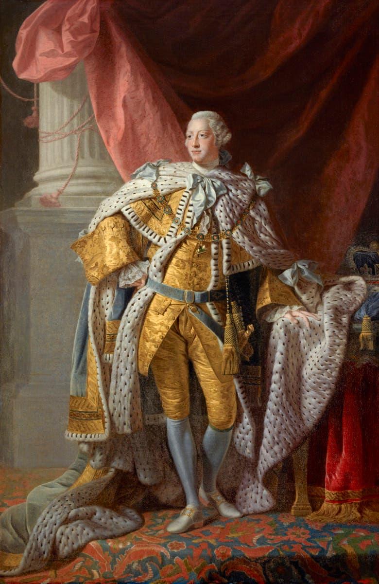 لوحة تجسد الملك جورج الثالث
