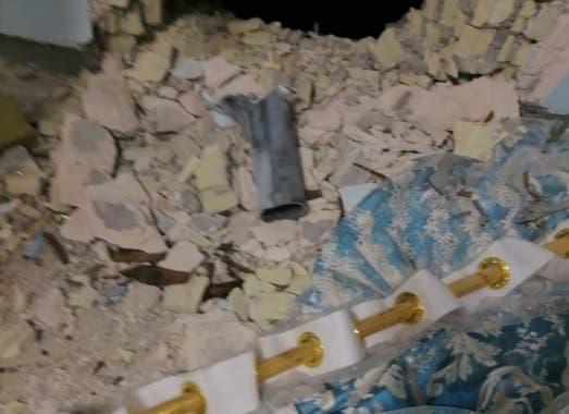سقوط صاروخ على منزل في بغداد