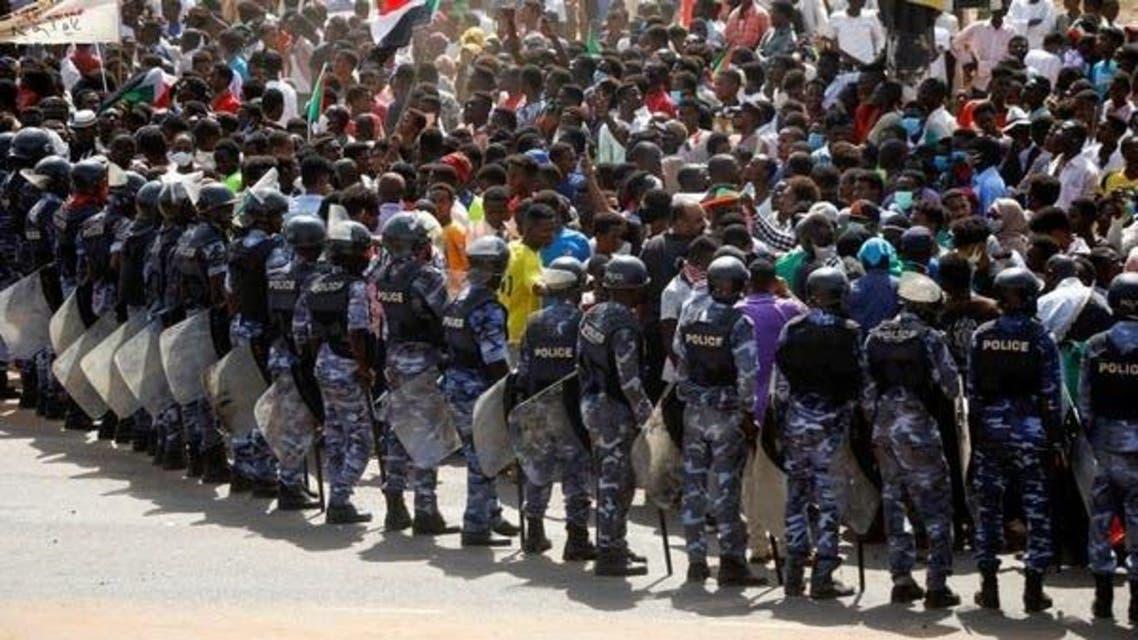 Sudan Police Protest