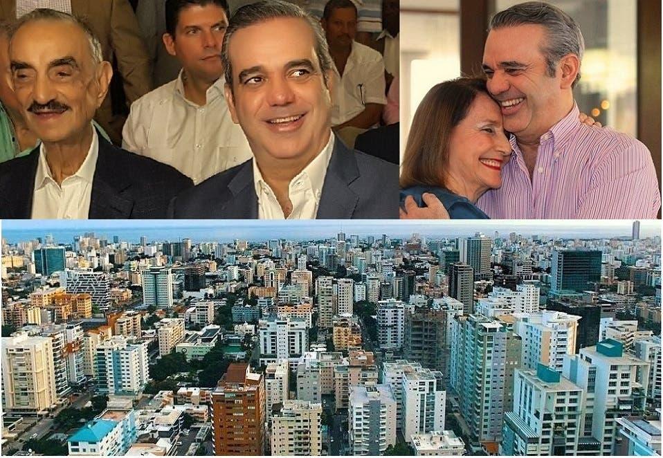مع والدته روزا سولا كورونا، ومع أبيه السيناتور الراحل في 2018 بعمر 89 سنة، خوسيه رافاييل أبي نادر، ثم العاصمة سانتو دومينغو