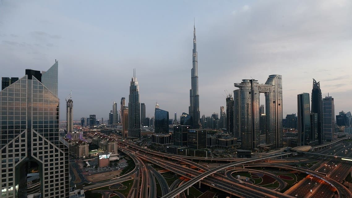 Aerial view of the Sheikh Zayed Road, following the outbreak of coronavirus disease (COVID-19), in Dubai. (Reuters)