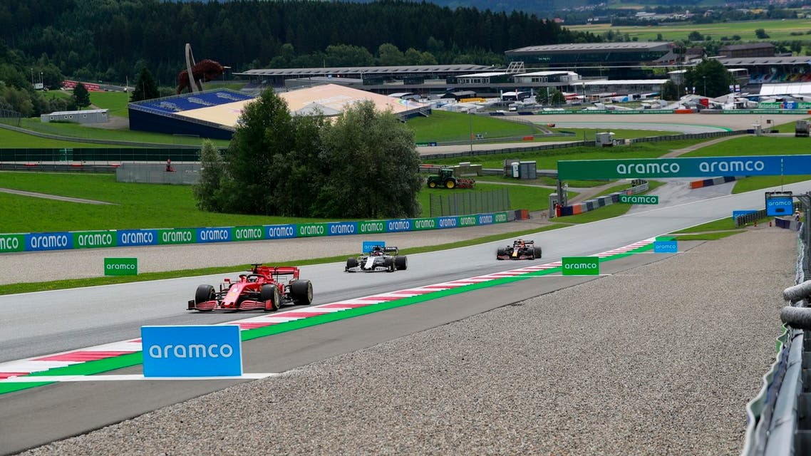 Saudi Aramco at the race track in Austria. (Supplied)