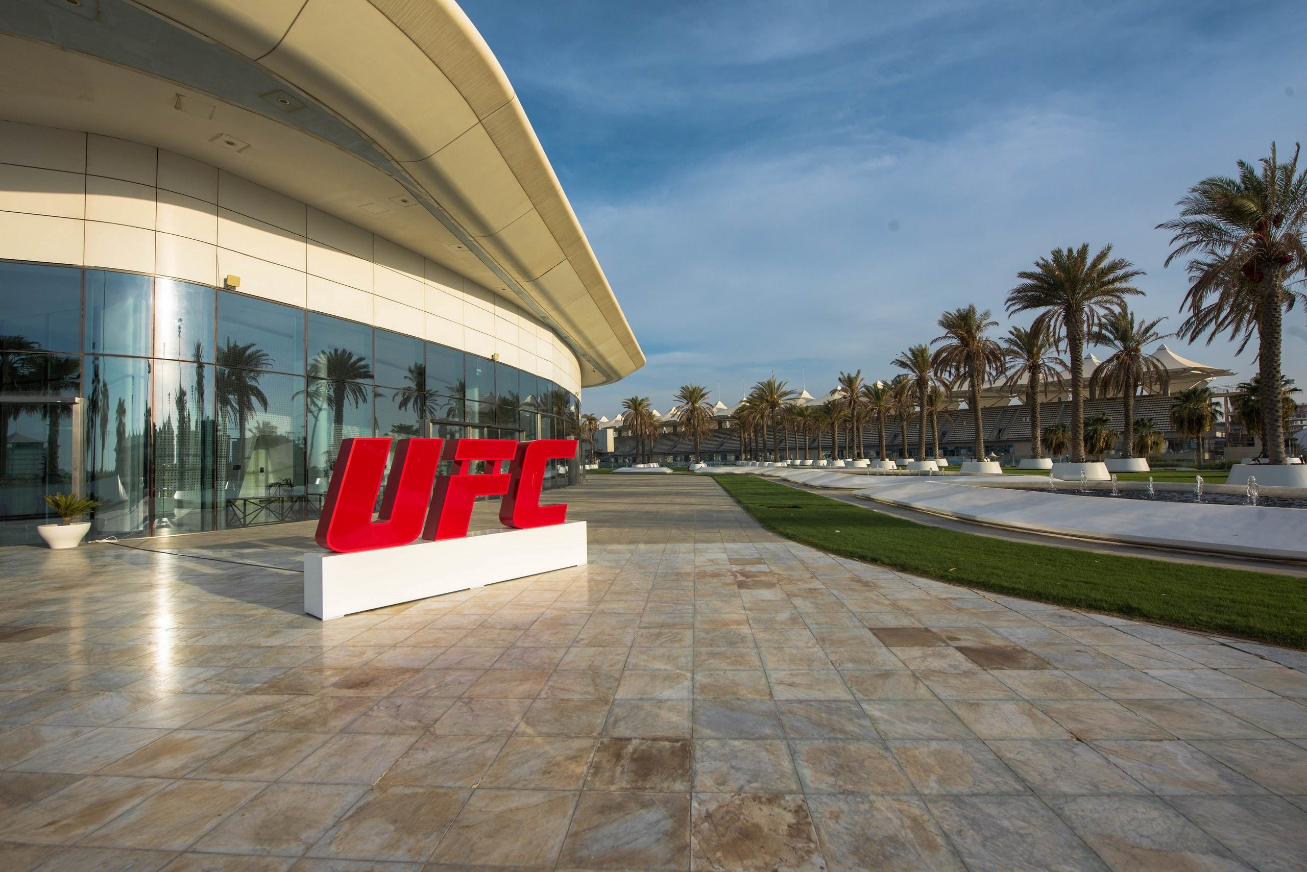 The UFC logo in Abu Dhabi ahead of Fight Island. (Supplied)
