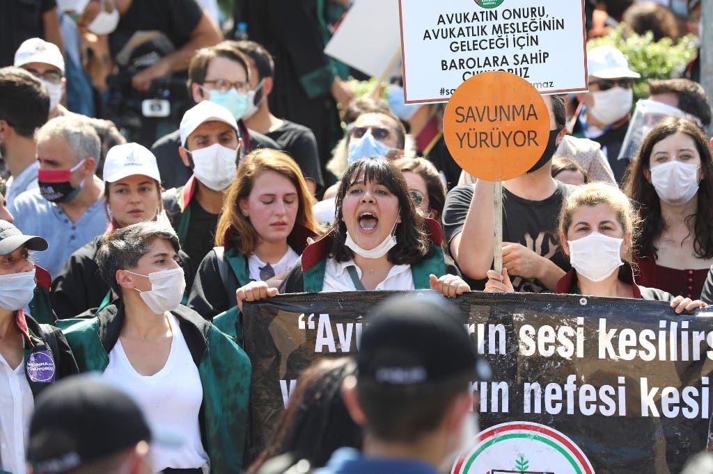 احتجاجات المحامون في أنقرة - فرانس برس