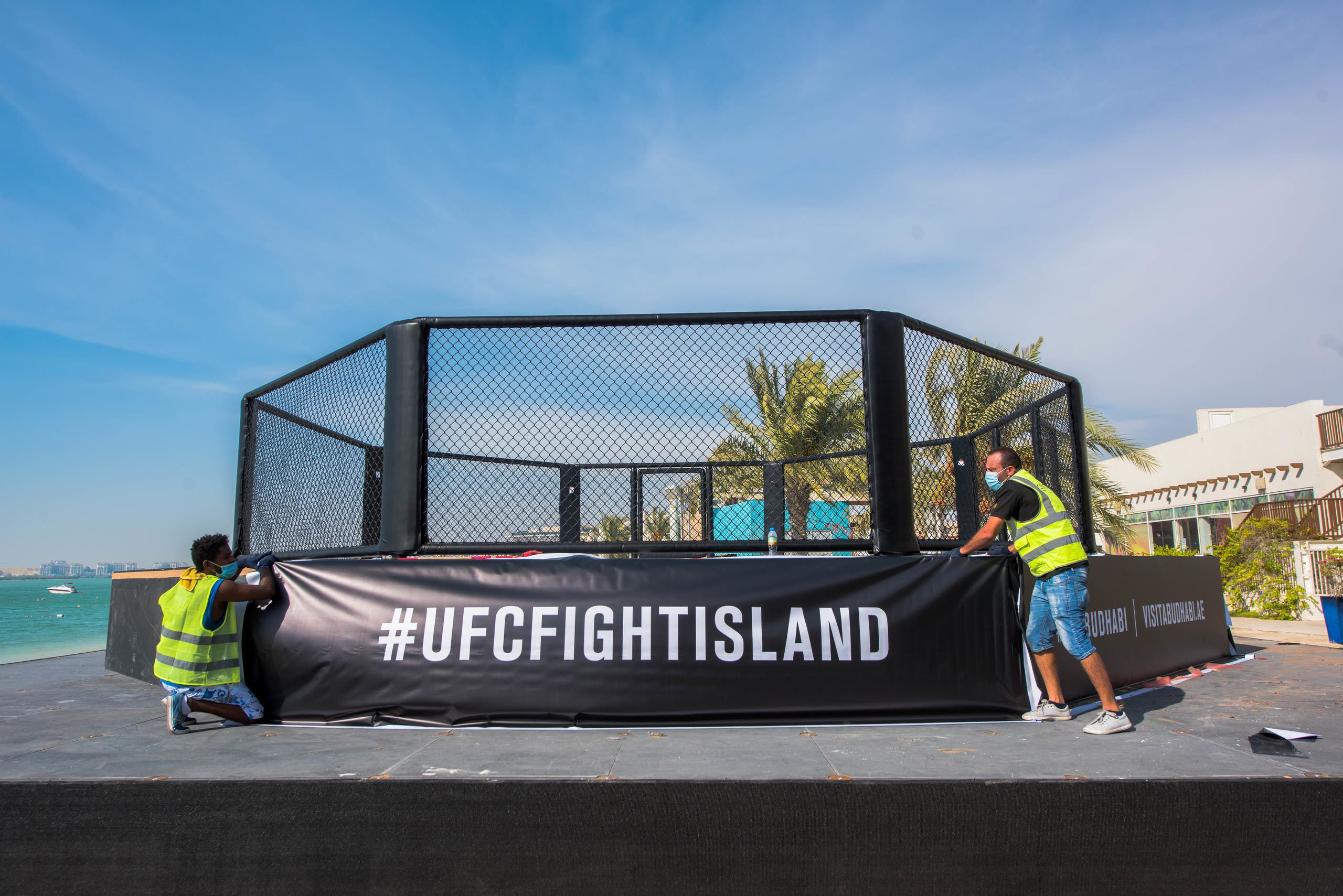The UFC Fight Island Octogon at Yas Island in Abu Dhabi. (Supplied)