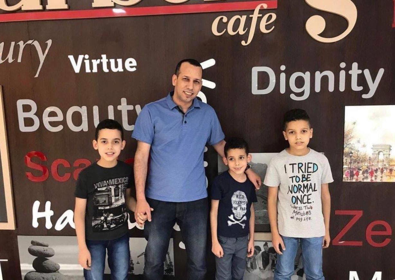 الهاشمي وأطفاله الثلاثة