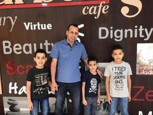 شاهد.. صورة للهاشمي مع أطفاله الثلاثة