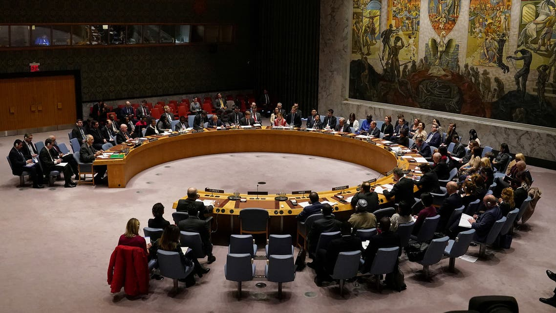 The UN Security Council meets about the situation in Syria, Feb. 28, 2020. (Reuters)