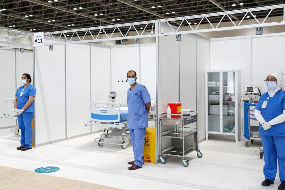 The Dubai World Trade Centre when converted into a hospital during a visit by Dubai Crown Prince Sheikh Hamdan bin Mohammed bin Rashid Al Maktoum. (WAM)