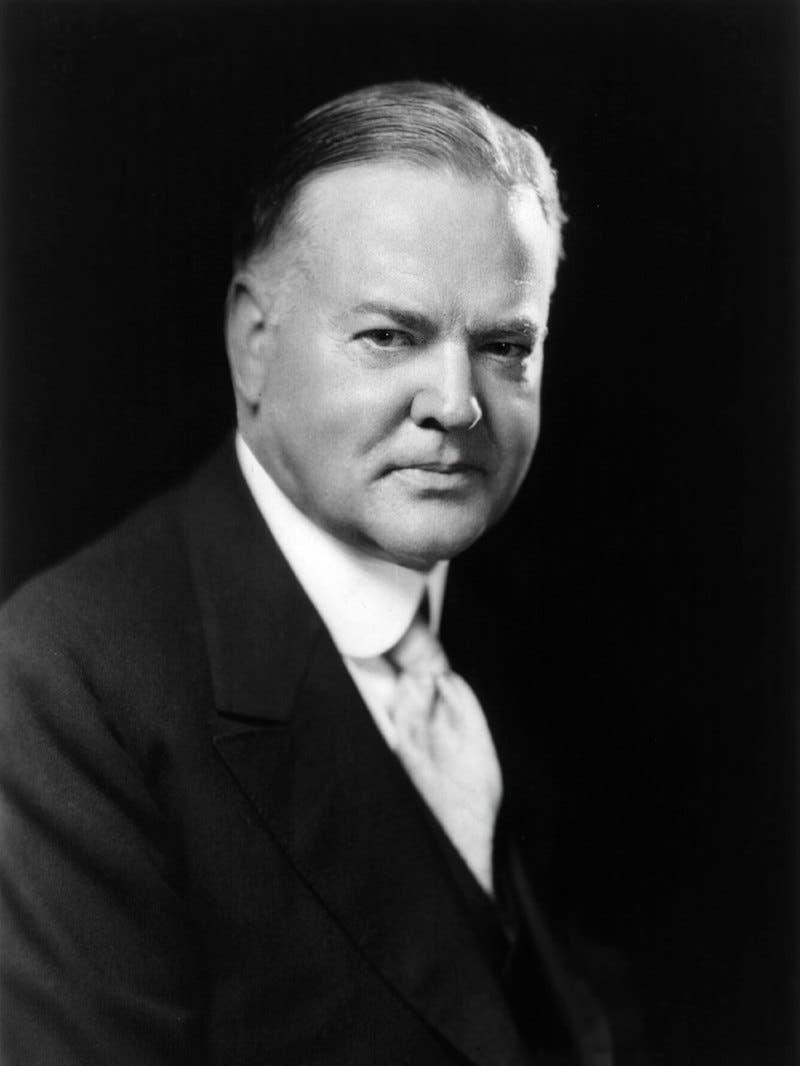 صورة للرئيس الأميركي هربرت هوفر