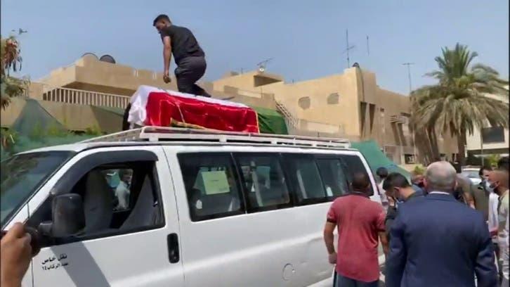 بغداد.. المشاهد الأولية لتشييع جثمان الهاشمي