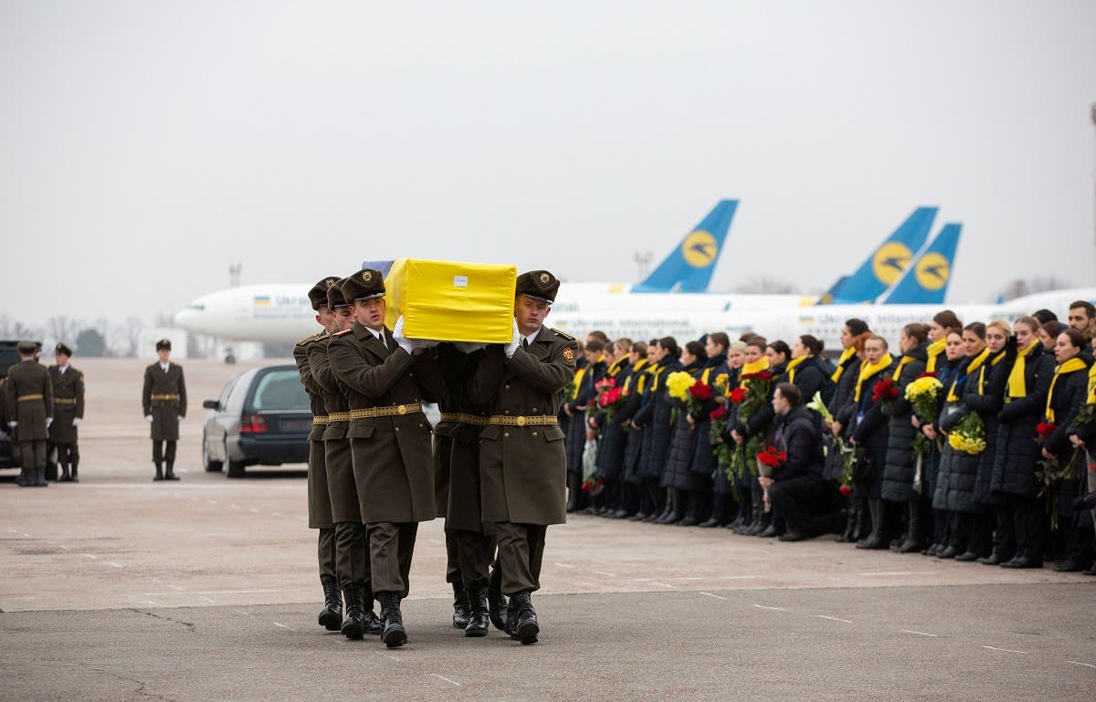 Memorial ceremony for the Ukrainian victims of Iran plane crash at the Boryspil International Airport, outside Kiev. (File photo: Reuters)
