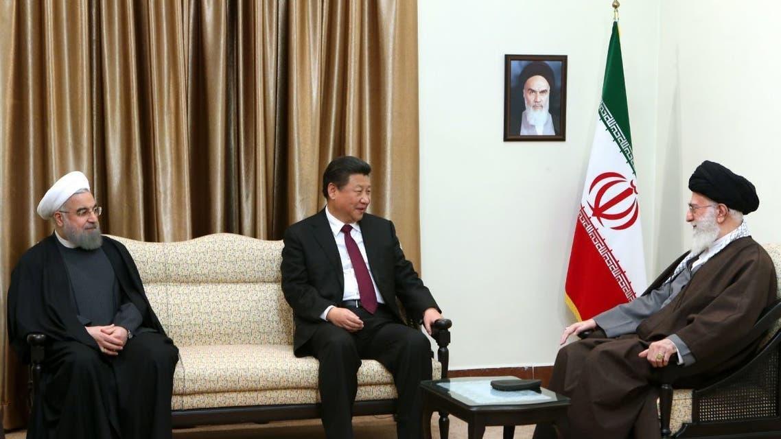 المرشد الايراني يستقبل الرئيس الصيني في 2016