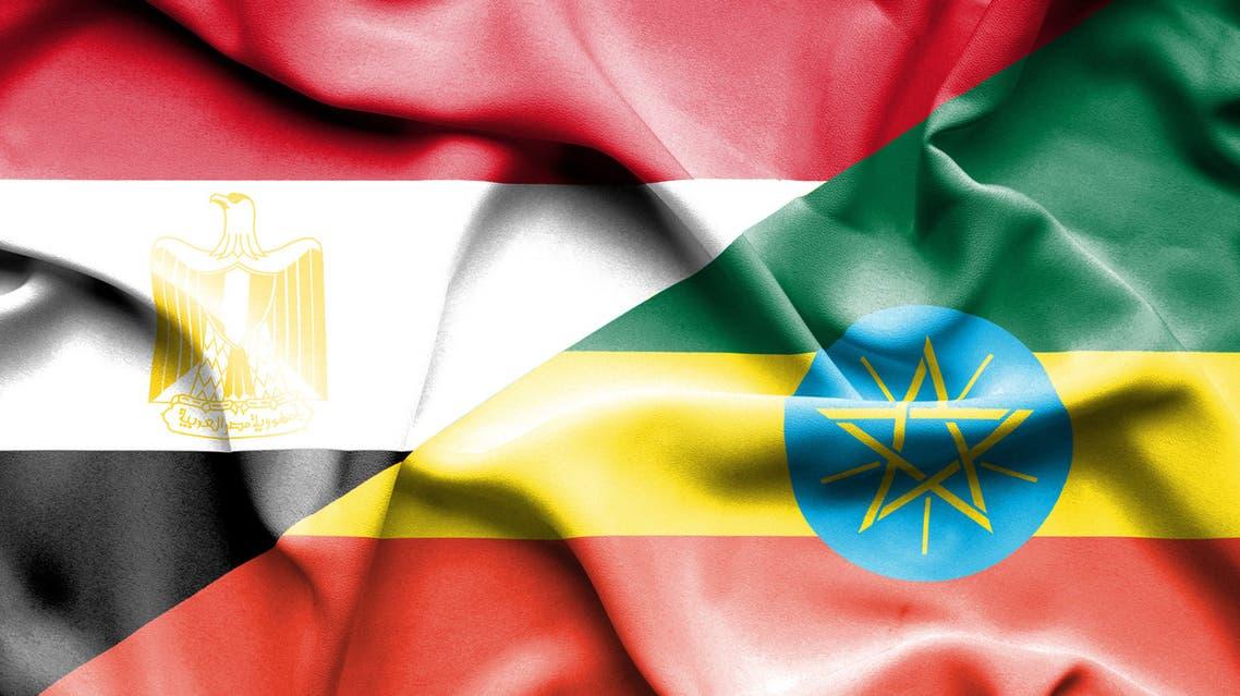 مصر أثيوبيا أعلام