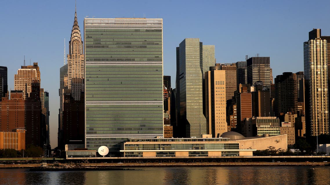 FILE PHOTO: The United Nations headquarters in Manhattan is seen across the East River as the sun rises in New York September 17, 2015. REUTERS/Mike Segar/File Photo