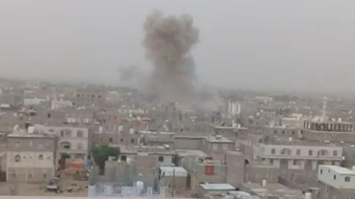 قصف حوثي على مأرب