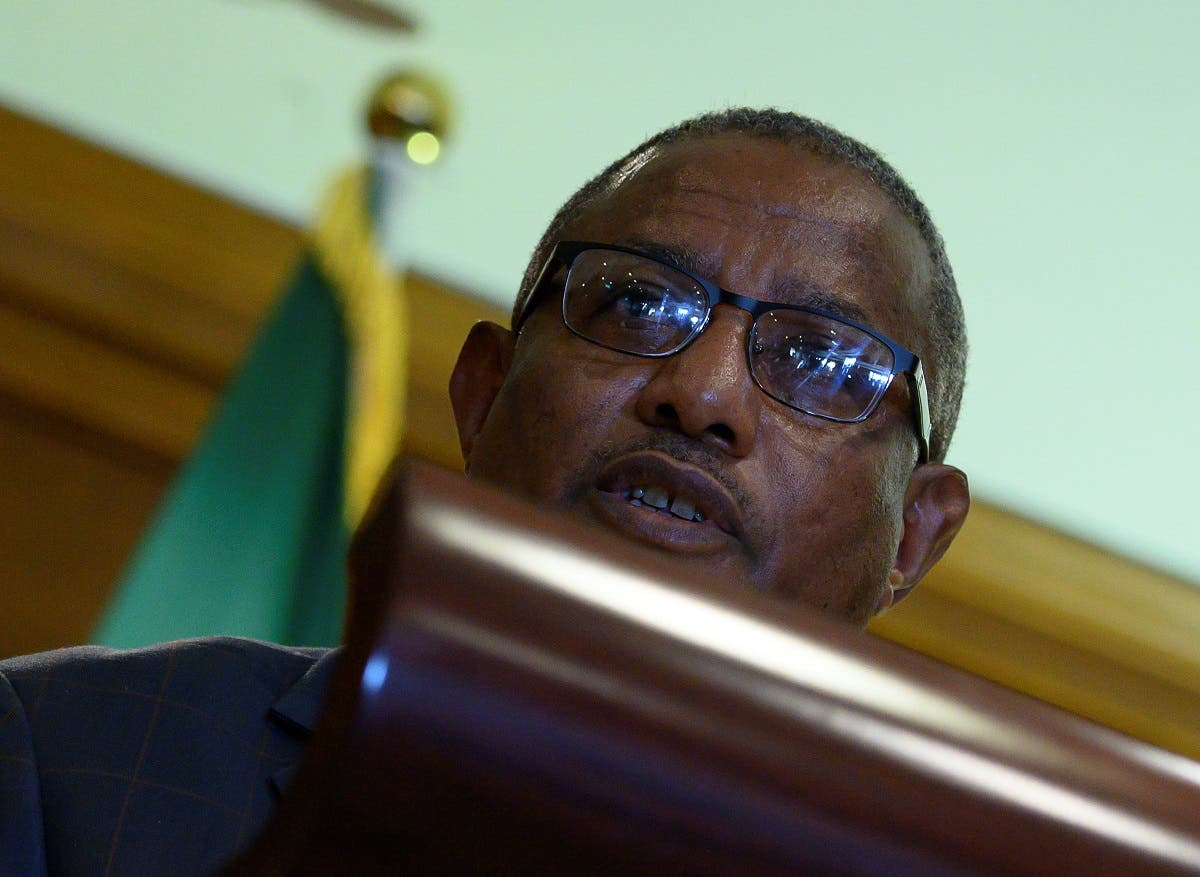 Ethiopian Minister of Foreign Affairs Gedu Andargachew reacts during a joint news conference with U.S. Secretary of State Mike Pompeo (not pictured) at the Sheraton Hotel in Addis Ababa, Ethiopia. (Reuters)