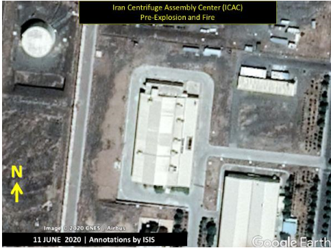Figure 1. The ICAC Building as it appeared in this June 11, 2020 CNES/Airbus satellite image as found on Google Earth. (Screengrab: Institute for Science and International Security report.)