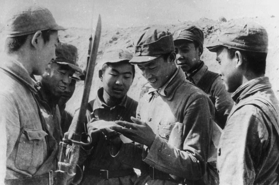 جانب من قوات التحرير الشعبي الصيني
