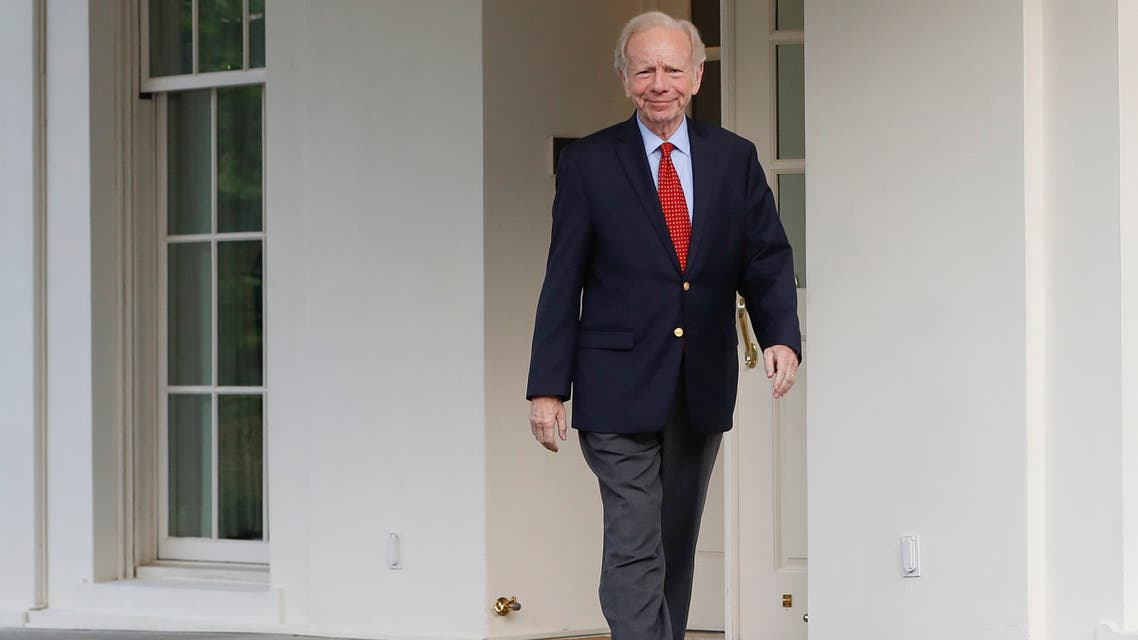 Former Connecticut Sen. Joe Lieberman leaves the West Wing of the White House in Washington on May 17, 2017. (AP)