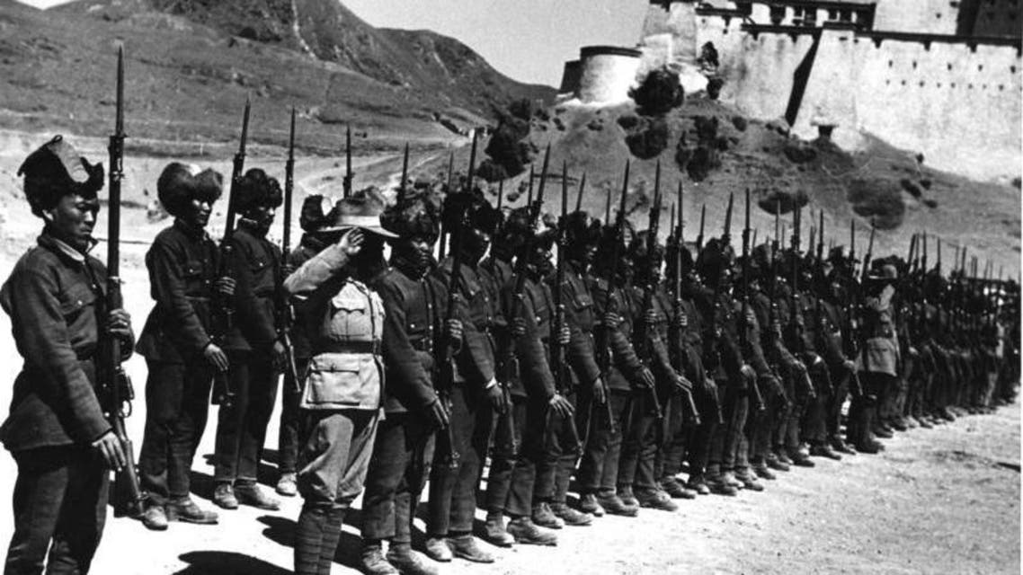 جانب من قوات جيش التبت عام 1938