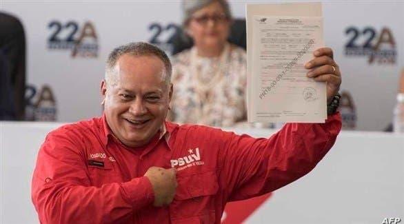 ديوسدادو كابيلو رئيس الجمعية الوطنية التأسيسية في فنزويلا
